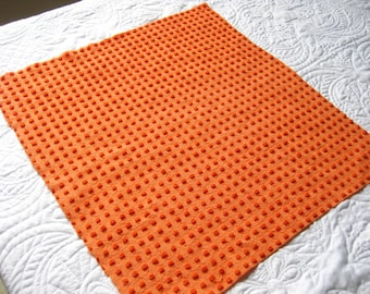 Bright Halloween Orange Morgan Jones Pops Lurex Vintage Chenille Bedspread Fabric