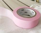 Solid PASTEL Pink - Washi Tape Japanese PASTEL pink masking tape planner sticker tape (304) - PrettyTape