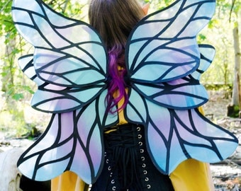 Lilac Blue Faerie Queen Wings