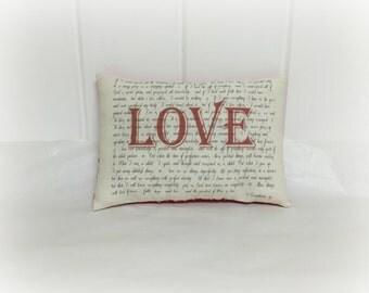 Valentine Pillow | 1 Corinthians 13 | LOVE | Valentine decoration | Valentine decor | Pillow with words | Valentine gift | Wedding gift