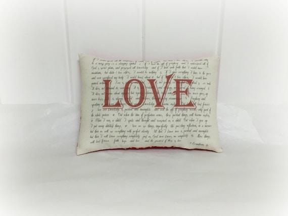 Valentine Pillow - 1 Corinthians 13