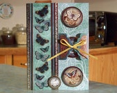 """Handmade In Deepest Sympathy Card - 5"""" x 7"""" - Butterflies Vellum Panel with Hidden Message - Condolences - Thinking of You"""