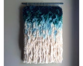 MADE TO ORDER - Woven wall hanging / Furry mint dreams // Handwoven Tapestry Weaving Fiber Art Textile Wall Art Woven Home Decor Jujujust