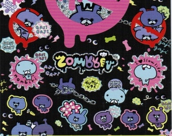 San-X Zombbit Sticker Sheet - SE20302