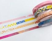 Slim Washi Tape Set (4/set) Thin Washi Tape Set • Skinny Washi Tape