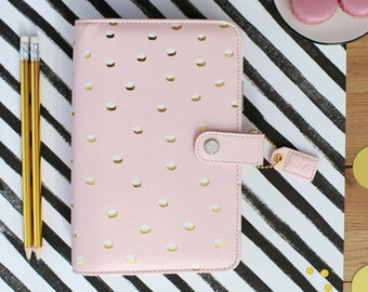 50% Off SALE! Blush & Gold Dots Webster's Pages Color Crush Personal Planner Kit 2017 Calendar