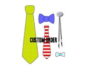 Custom Order for Sue, 1 Number 12 Freestyle Bow Tie