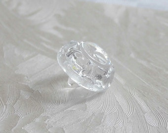 24  marvellous  domed   glass buttons with fine made edges - ( 13.5 mm - 9/16 in. )