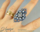 Altea ,  needle tatting tutorial for ring , pendant and more