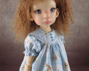Blue Simply Nature Dress and Socks Set for Kaye Wiggs Layla, Talyssa, Miki, Mei Mei, Yani, Nyssa, Hope, and other 43-45cm MSD BJD