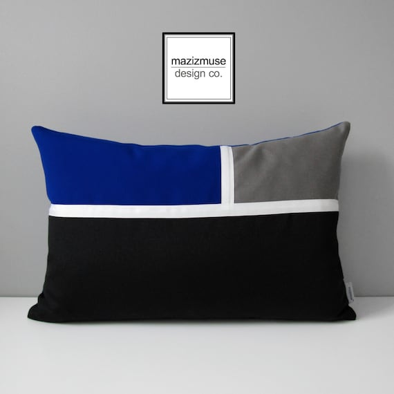 Decorative royal blue pillow cover modern outdoor pillow for Royal blue couch pillows