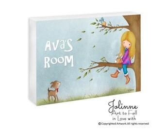 Personalized door sign, kids door signs, door sign custom, kids door plaque, girl door hanger, nursery door sign,  personalized baby