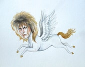 David Bowie as a pegasus