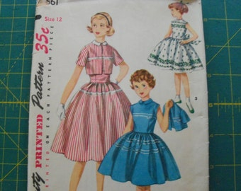 Simplicity 1561 Girls One Piece Dress and Jacket Size 12