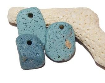 Leland Blue Pendants, Sliced Slag, slag glass, foundry glass, Lake Michigan Jewelry Supplies