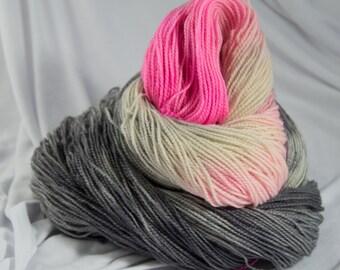 BFL sock yarn, Hand dyed, Artist Series, Eva Hesse