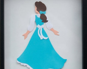 Beautiful Belle Disney Princess Inspired Beauty and the Beast Paper Wall Art Adorable