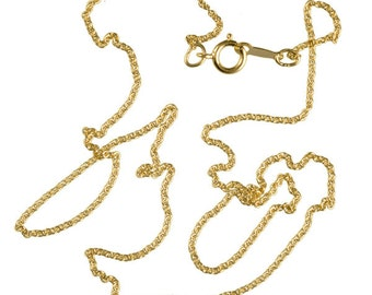"""24K Gold Filled Chain Necklace, Gold Necklace, thin gold Chain, gold chain, gold necklace, 16"""" gold chain"""