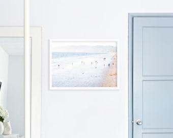 Santa Monica Photography Beach Print // Pastel Beach Decor Los Angeles Print // Beach Photography // Los Angeles - Santa Monica Beach