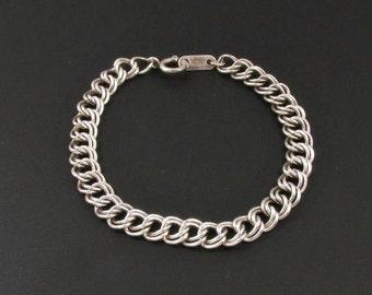 Sterling Silver Charm Bracelet, Sterling Silver Chain Bracelet, Silver Chain Bracelet, Silver Charm Bracelet