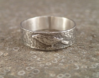 Bird Ring - Raven - Crow - Rook - Currawong - handmade art jewelry