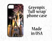 Disney Samsung Galaxy S6, S7, iPhone 7, 6 6S Plus case, 3D full image wrap, princess Cinderella castle, fireworks, i Phone 4, 4s, 5, 5s, 5c