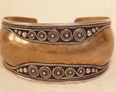 Vintage Ethnic Bracelet-Bohemian Jewelry-Boho Bracelet-Copper Silver Jewelry-Vintage Jewelry-Vintage Bracelet-Boho Jewelry