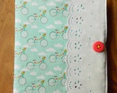 Journal Cover, prayer journal, gratitude journal, bicycle, pennant