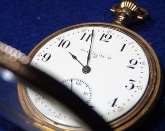 Vintage Elgin 3 Finger Bridge 15 Jewels Model Pocket Watch