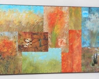 Rural Landscape (Summer) #4 , Mixed Media Mural