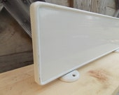 Vintage White Porcelain Enamel Display Rack Sign Advertising Sign Magnetic