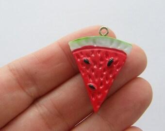 BULK 20 Watermelon charms acrylic FD278