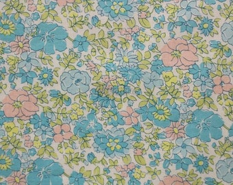 Liberty tana lawn printed in Japan - Charlotte - Blue mix