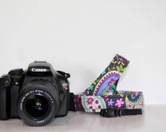 THIN Camera Strap Cross-body Length - PICK Fabric CANON Nikon