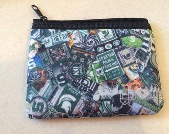 Michigan State Spartans  Zipper Wallet MSU