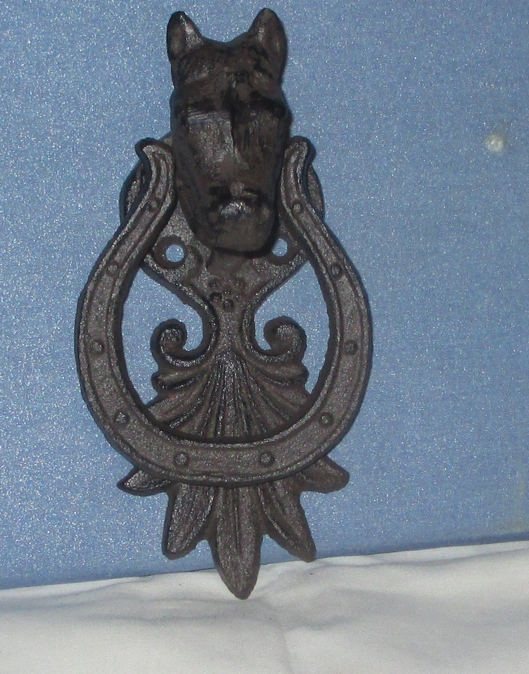 Door Knocker Horse And Horseshoe Antiqued Rusty Or Pick Your