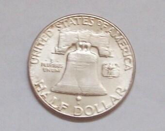 1955 Liberty Bell Silver Half Dollar Coin