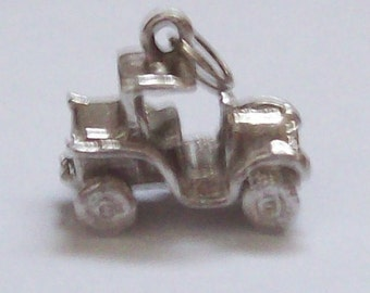 Sterling Silver Car Charm 1970s Vintage