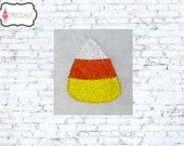 Candy corn embroidery design. Mini candy corn machine embroidery in 7 sizes for thanksgiving. Fun fall embroidery. Halloween embroidery..