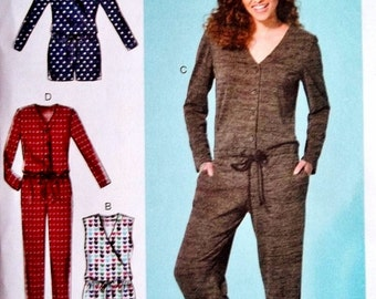 Jumpsuit Pattern, Loose Fitting Romper Pattern, McCall's Sewing Pattern 7296