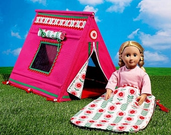 18 inch Doll's Tent and Sleeping Bag Pattern, McCall's Sewing Pattern 7268