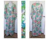 Vintage 70s Empire waist, hippie, boho, maxi dress  tag is The Corporation