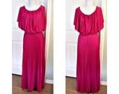 Vintage 70s disco boho maxi dress