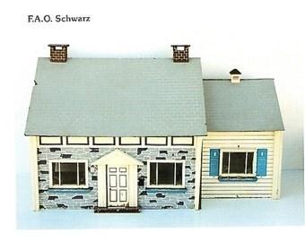 Dollhouse, FAO Schwartz Vintage 1960s FAO Schwartz Dollhouse