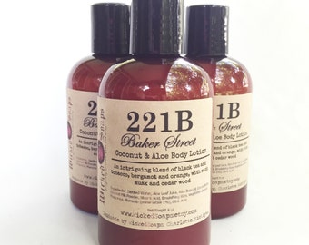 221B Baker Street Body Lotion - Coconut Milk & Aloe Body Lotion with Cocoa Butter