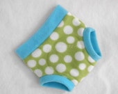 Extra Large Dinosaur Egg Fleece Soaker Fitted Diaper Cover, Green, Light Teal Blue, White Polka Dot, Ready to Ship for Spring, Photo Prop XL