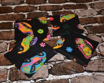 Peace Love and Slug Bugs Coasters