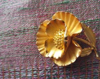 Gorgeous Vintage Trifari Poppy Brooch