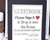 Drop Wedding guestbook sign display guestbook wedding drop me a heart