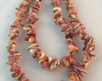 Purple Spiny Oyster Shell Chip Bead Strand